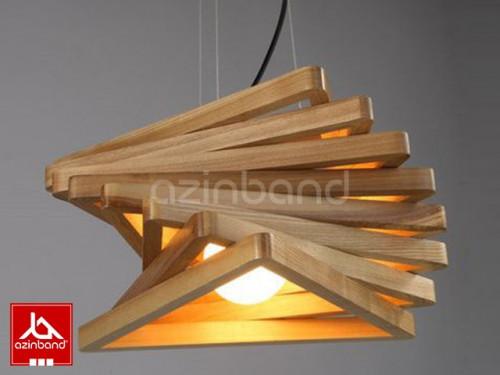 لوستر چوبی مثلثی ۸ تکه