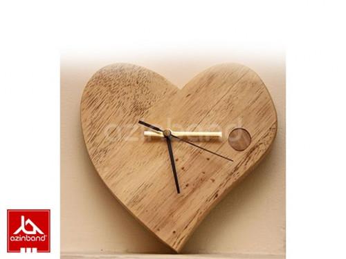 ساعت دیواری چوبی طرح قلب