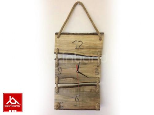 ساعت دیواری چوبی سه تیکه