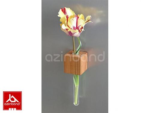 گلدان چوبی آهن ربایی