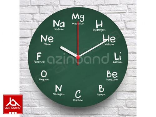 ساعت دیواری با فرمول های شیمی