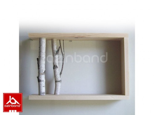 شلف قفسه ای دیواری با شاخه طبیعی