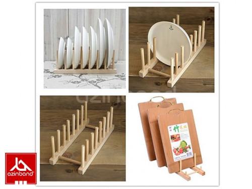 نگهدارنده چوبی ظروف