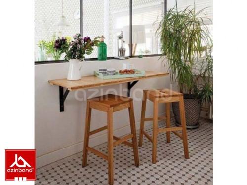 میز و صندلی دو نفره دیواری