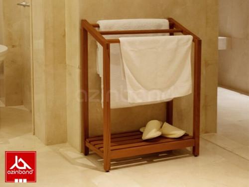 رخت آویز حوله ای چوبی
