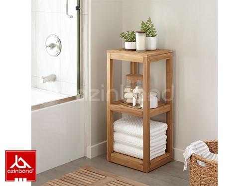 استند چوبی دو طبقه حمام