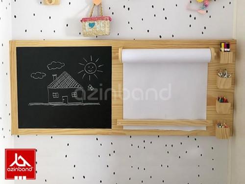 تخته سیاه و رول کاغذ نقاشی دیواری کودک