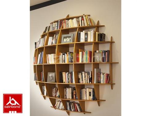 کتابخانه چوبی محدب