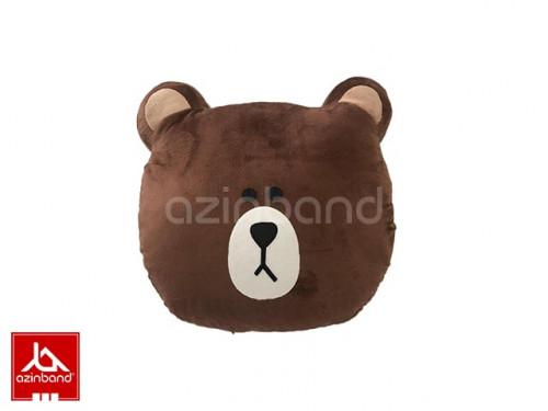 بالش فانتزی خرس قهوه ای