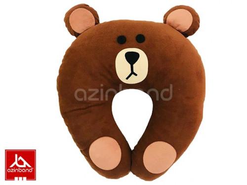 بالش طبی فانتزی گردنی خرس قهوه ای