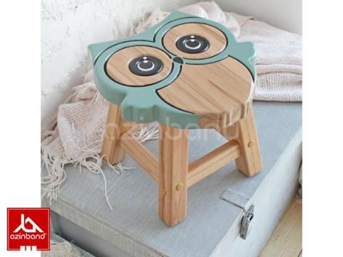 صندلی کودک چوبی طرح جغدی