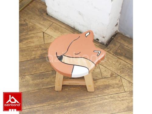 صندلی کودک چوبی طرح روباهی