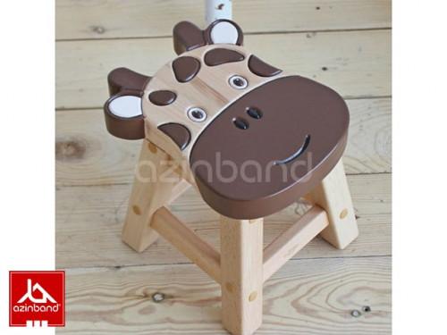 صندلی کودک چوبی طرح گاویی شماره یک