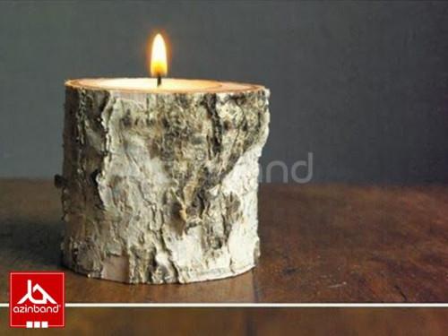 جاشمعی چوبی رومیزی