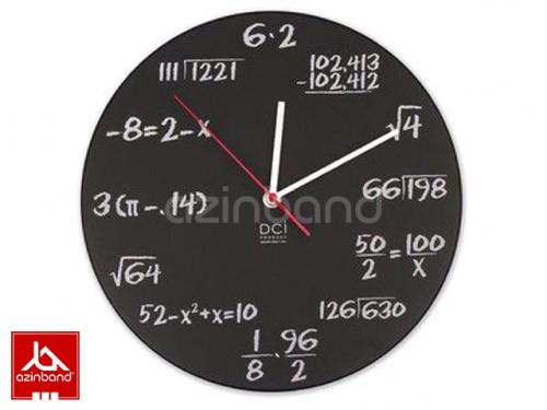 ساعت دیواری با فورمول های ریاضی