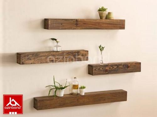 پک ۴ عددی شلف دیواری چوبی